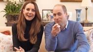 Auf Sendung: Kate und William in ihrem ersten Youtube-Clip