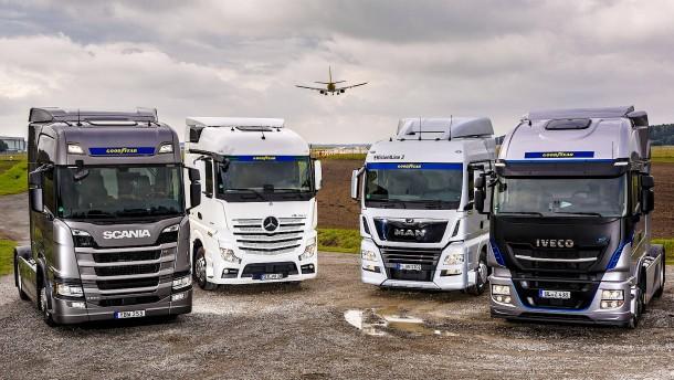 Lastwagen verbrauchen relativ wenig Diesel