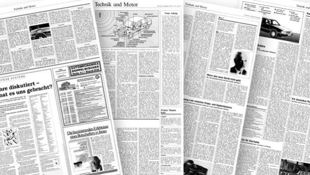 25 Jahre Technik und Motor / Zeitungsseiten