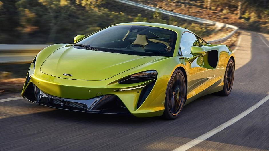 """Der neue McLaren soll 220.000 Euro kosten. Die Lackierung nennt sich """"Flux Green""""."""