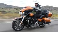 Im Sattel der neuen Electra Glide von Harley-Davidson