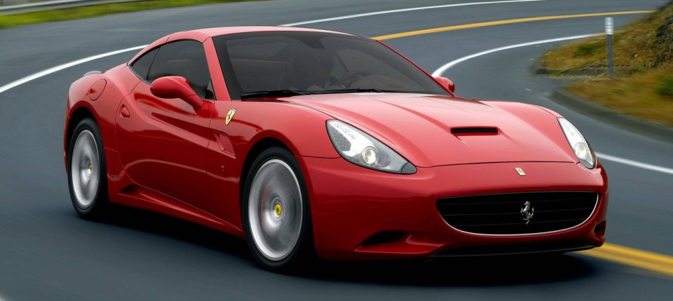 Ferrari California Frau Am Steuer Technik Motor Faz