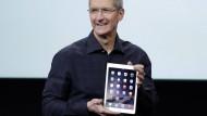 Die neue Sim-Karte hatte Apple-Chef Cook gar nicht erwähnt