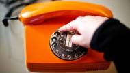 Wie früher: Wählscheibentelefon
