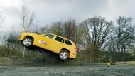 Luftig: Der Volvo XC90 ist abgehoben
