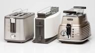 Der Krups Control Line Toaster KH 442, der Multiquick 5 von Braun und der De'Longhi CTZ 2103 rösten um die Wette.