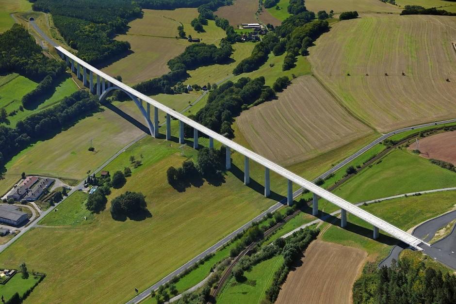 Für VDE8 wurde unter anderem die Grümpentalbrücke geschaffen.