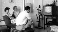 Ungestörte Fernseh-Idylle in den sechziger Jahren.