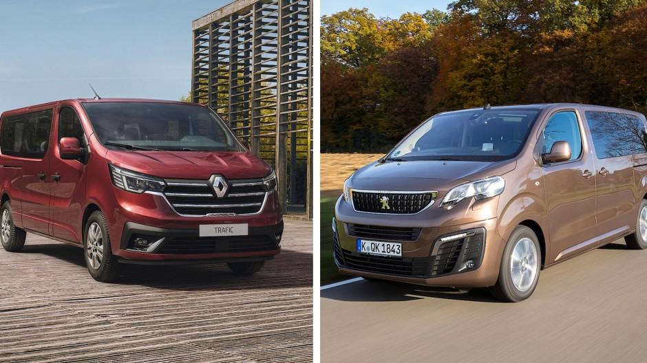 Renault Trafic und Peugeot Traveller