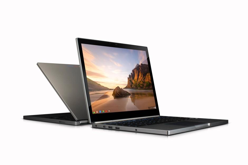 Das Chromebook hat unter anderem zwei USB-Anschlüsse