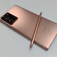 Das Note 20 Ultra von Samsung in Mystic Bronze.