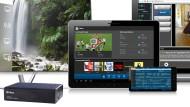 Die schwarze Kiste empfängt digitale Fernsehprogramme, wandelt sie in Video-Datenströme um und schickt sie über eine Ethernet-Kabelverbindung an den Router.