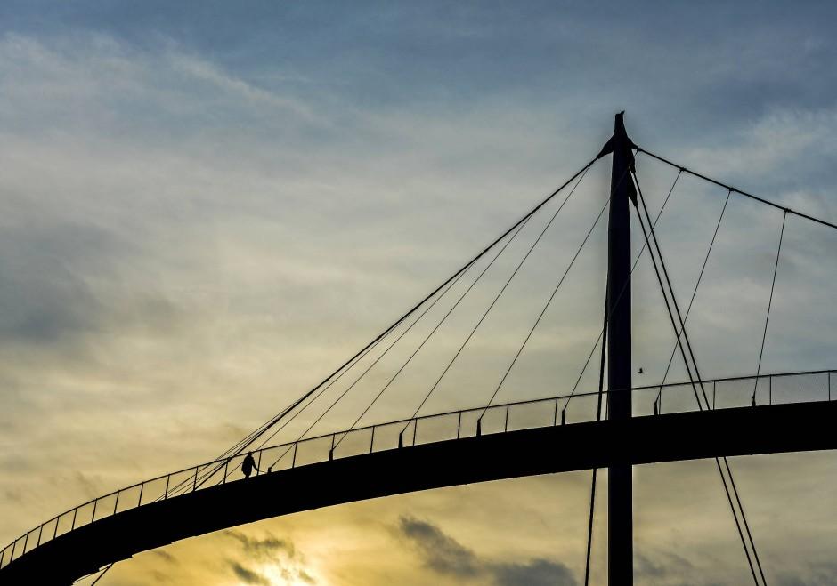 Hängebrücke Sassnitz: Ein 250Meter langer Balkon mit Meerblick vom Stadtzentrum zum Hafen.