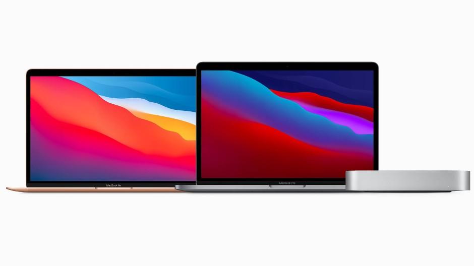 Macbook Air, Macbook Pro und Mac Mini