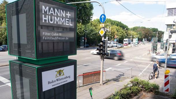 Welche Wirkung hat der Luftfilter am Neckartor?