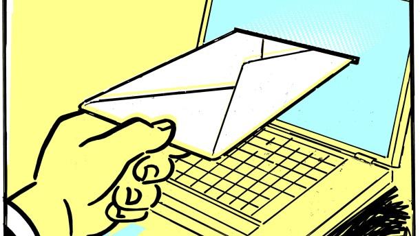 Werben für den Online-Brief auf der IFA