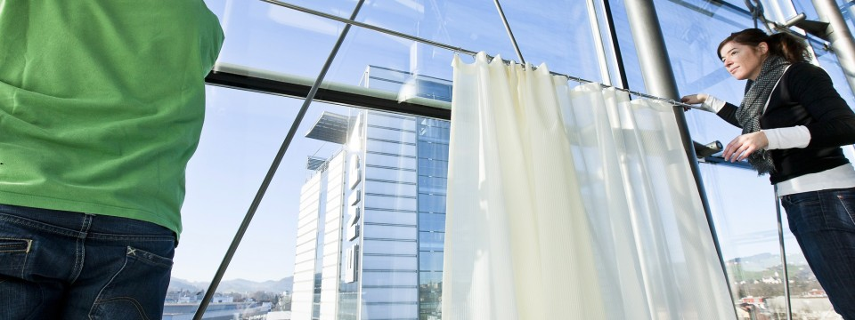 Vorhang Schallabsorbierend schallabsorbierende vorhänge stoffe die stille schaffen technik