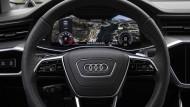 Gleich drei Schirme gibt's im neuen Audi A6.