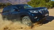 Der Toyota Land Cruiser in seinem Lieblingsgelände.