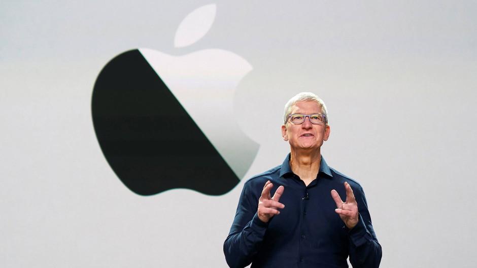 Dieses Mal nur Zuschauer in der Ferne: Apple-Chef Tim Cook eröffnet die Apple Worldwide Developers Conference (WWDC) im Steve-Jobs-Theater in Cupertino.