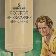 Der Protos-Wasserspeicher von Siemens im Reklamebild der 1920er Jahre