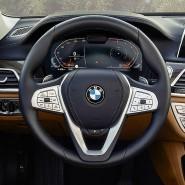 Das Cockpit des neuen 7er BMW ist aufgeräumt, dezent und klar gegliedert.