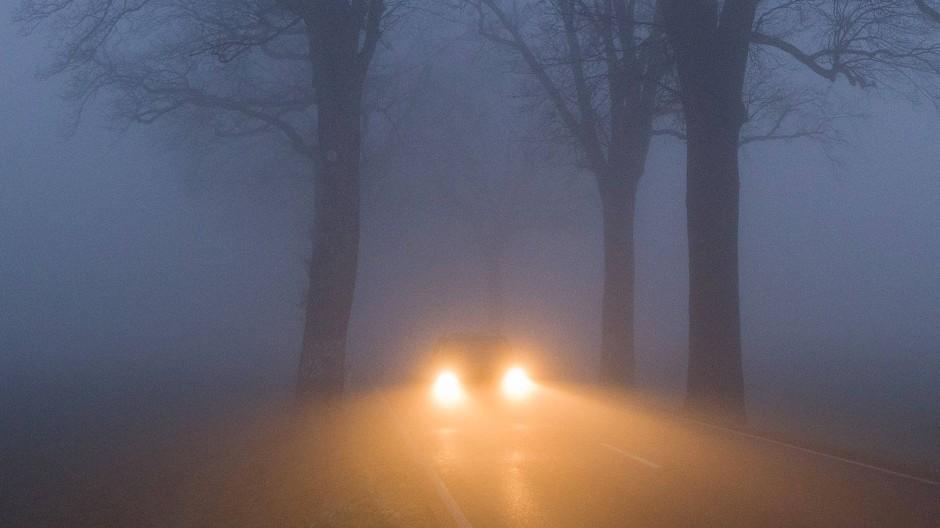Wenn der Fahrer abrupt bremst, die Nebelscheinwerfer und Scheibenwischer einschaltet und der Regensensor anschlägt, ist das ein Indiz für eine unvermittelt auftauchende Nebelwand.