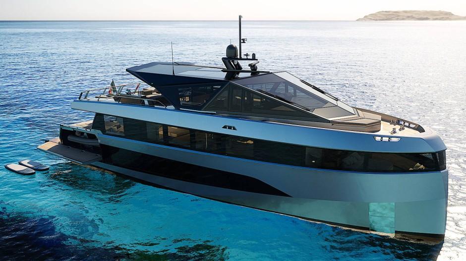 WHY 200 heißt das Projekt einer ebenso bullig wie futuristisch wirkenden 27-Meter-Motoryacht von Wally. Das erste Exemplar ist im Bau.