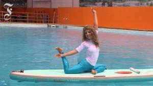 Die schwimmende Yogamatte