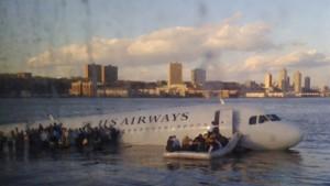 Da ist ein Flugzeug im Hudson. Verrückt.