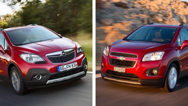 Aufmacherbild / Chevrolet Trax und Opel Mokka im Vergleich