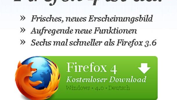 Firefox 4 millionenfach heruntergeladen