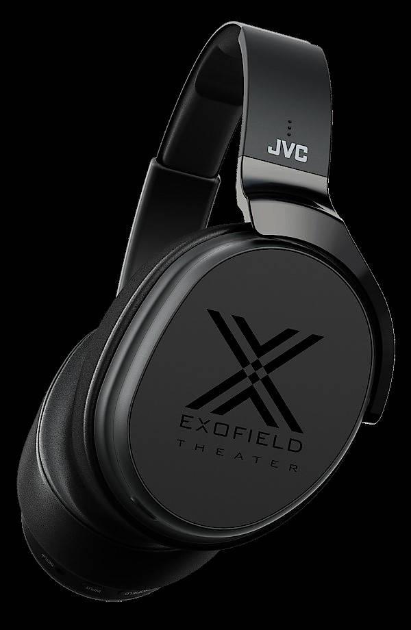 Das JVC-Modell schickt, bevor der Heimkino-Spaß beginnt, Messtöne in die Hörkapseln.