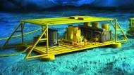 Vollautomatische Fabrik unter Wasser