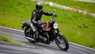 Ein Motorrad zum Händeschütteln