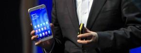 Chief-Executive-Officer von Huawei, Richard Yu, bei der Präsentation des MediaPad X1 im Februar diesen Jahres.