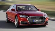 Frischwärts: Der neue A8 geht mit Preisen von knapp über 90.000 Euro auf Kundenfang.