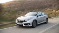 Auch bei hohem Tempo spurtreu: Der neue Honda Civic Elegance.