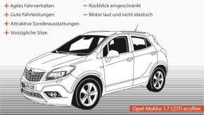 Infografik / Fahrtbericht / Opel Mokka 1.7 CDTI ecoflex