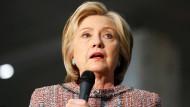 Hillary Clinton will im November zur ersten amerikanischen Präsidentin gewählt werden.