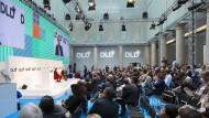 Das Atrium, einer der zwei Veranstaltungsräume der DLD-Konferenz in München.