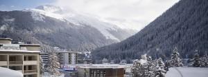 Während des Weltwirtschaftsforums ist von Idylle in Davos wenig zu spüren.