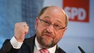 Spricht ständig von sozialer Gerechtigkeit: Martin Schulz