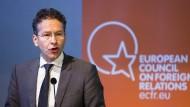 Die drohende Strafe in Amerika würde die Deutsche Bank nach Ansicht von Eurogruppen-Chef Jeroen Dijsselbloem überfordern.
