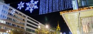 Hoffen auf ein gutes Weihnachtsgeschäft - auch in der Karstadt-Filiale auf der Zeil in Frankfurt.