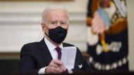 Joe Biden bringt ein gewaltiges Hilfspaket auf den Weg.