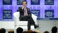 Chinas Ministerrpräsident Li Keqiang auf dem Weltwirtschaftsforum in Dalian