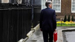 Britische Regierung rechnet mit mehr Wachstum