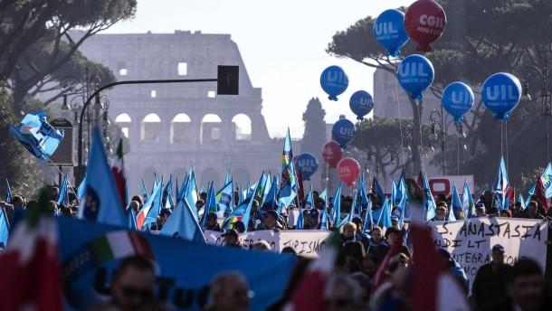 Italien streikt gegen Arbeitsmarkt-Reform