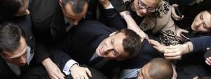 Wie ein aufsteigender Stern: der Favorit für das Amt des französischen Präsidenten, Emmanuel Macron, an der Universität in Lille